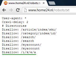 Zalando Samwer broers robots.txt grap Ikea