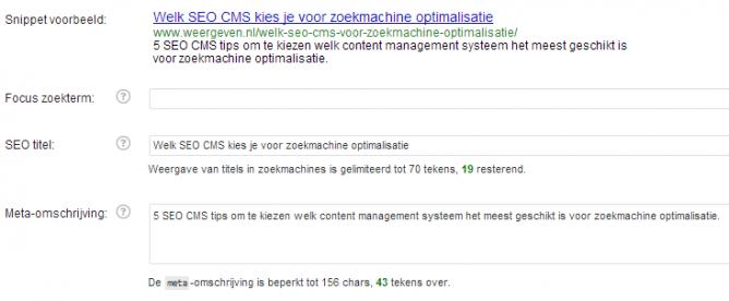 Zoekmachine vriendelijke website en CMS